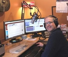 Paul Miller recording House of Praise Radio